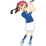 ゴルフ女性の疑問